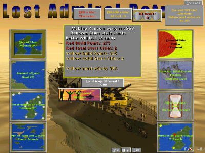 Customize each battle, particularly random map battles, with a variety of controls such as the complexity of the map, number of starting forces and cities, and even which side is favored for this fight.
